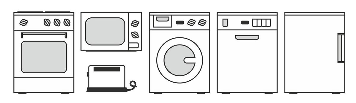 stilisierte Hausgeräte